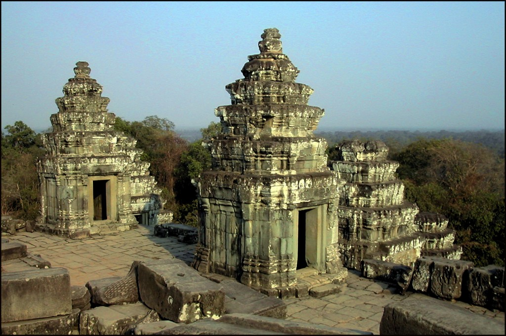 Some of Bahkeng's 104 towers - a mystical number in Hindu mythology