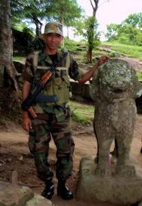 Preah Vihear, Khmer soldiers
