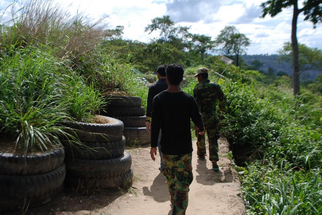 Preah Vihear, Khmer army positions