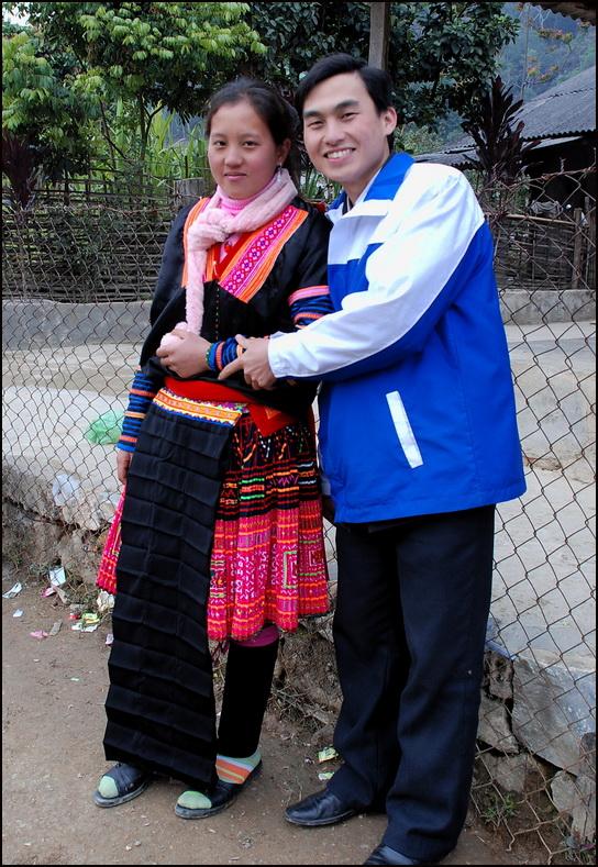 Red Hmong couple, Lai Chau Province