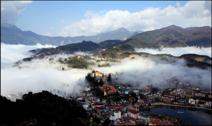 Sapa in the mist