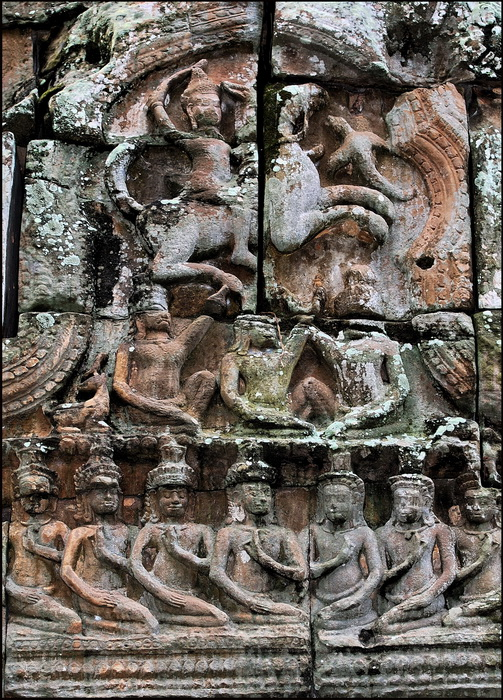 Ta Nei lintel, interior of north entrance