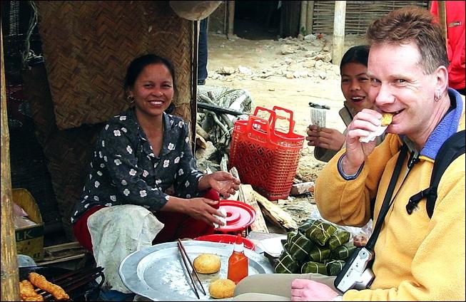 Breakfast in the market, Son La, Vietnam