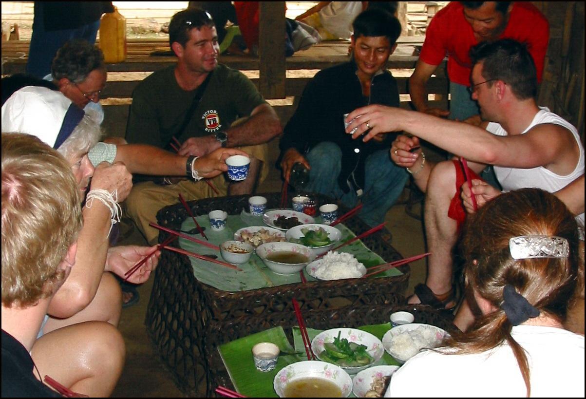 Lunch in a Lanten village near Huay Xai, Laos