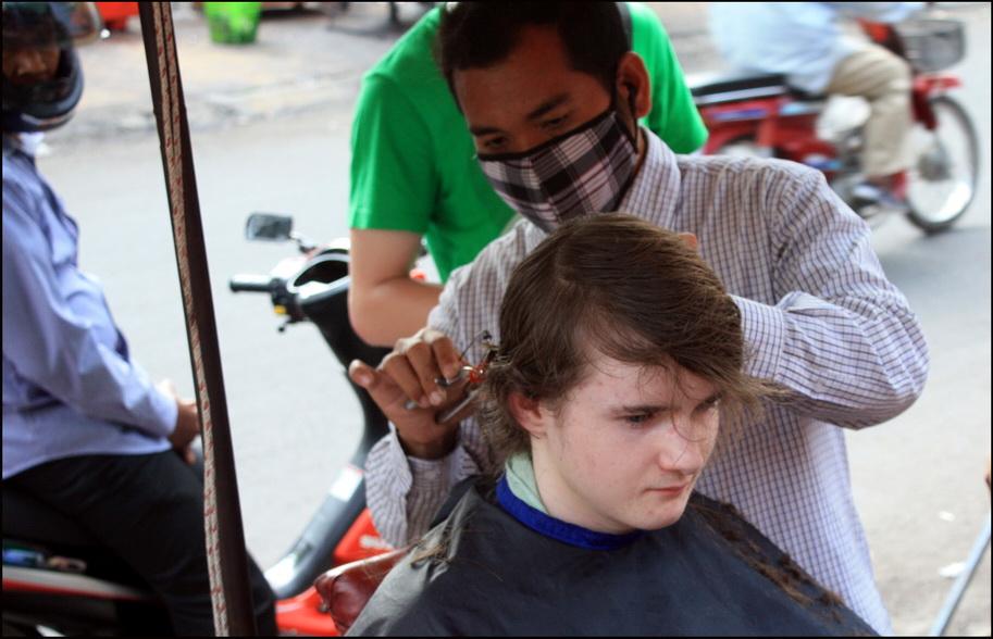 Phnom Penh haircut