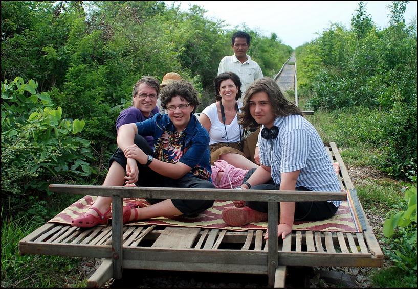 Cambodia Family Tour. Battambang - bamboo train