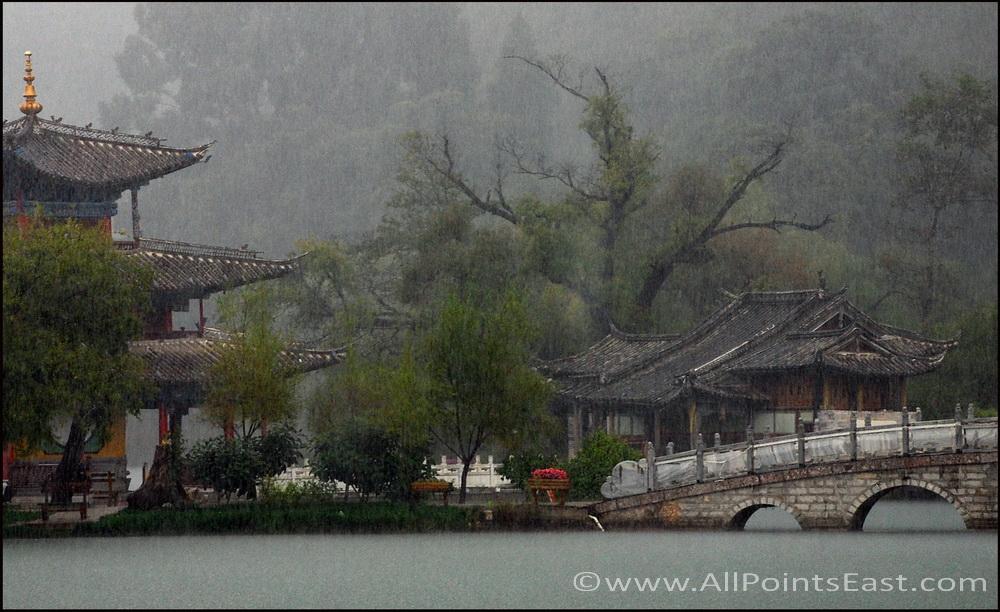 Rainstorm over the lake