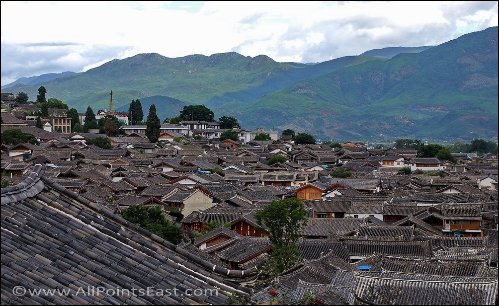 View over the Lijiang rooftops