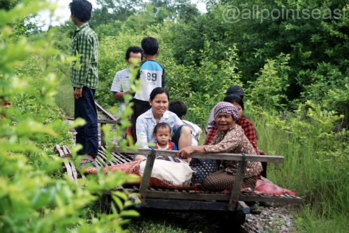 Battambang's bamboo train still going strong, Cambodia