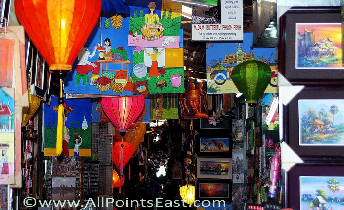 Colourful alleyway in the market