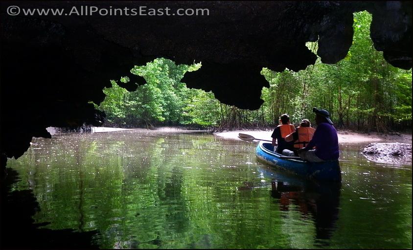 Sea caves at Chao Mai National Park