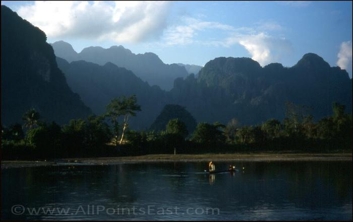 The pristine Nam Song at Vang Vieng