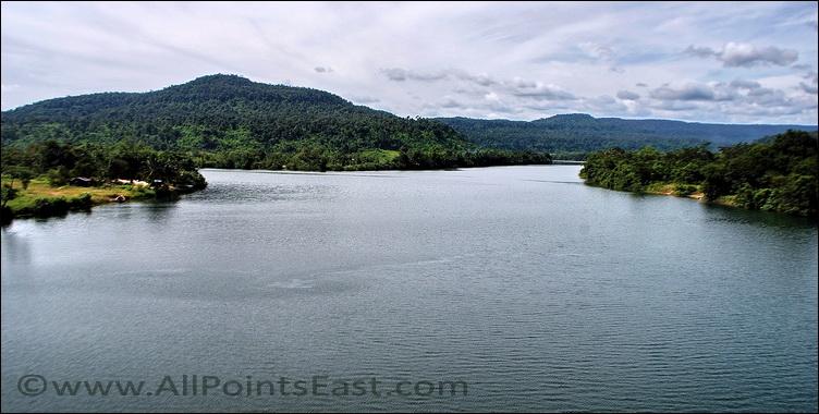 View from the bridge at Ta Tai