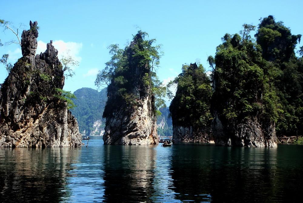 Thailand World Heritage Sites. Limestone formations of Khao Sok national park
