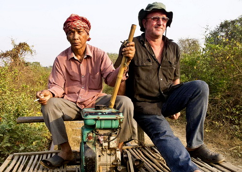 Mark, bamboo train, Battambang