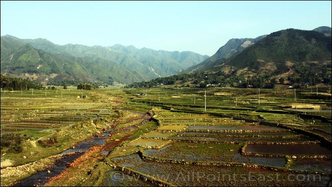 Scenic valley near Dien Bien Phu