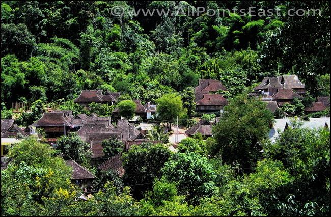 migration of Tai groups. Dai (Water Tai) village, south of Jinghong