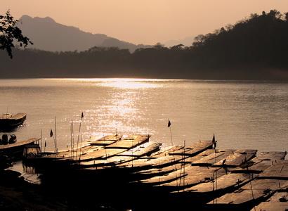 Sunset over the Mekong, Luang Prabang, Laos