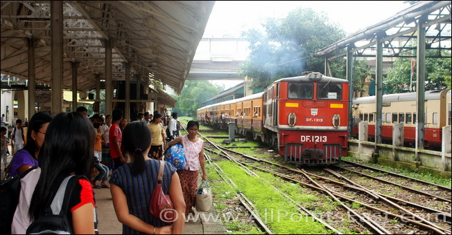 The 10.05 from Yangon Central