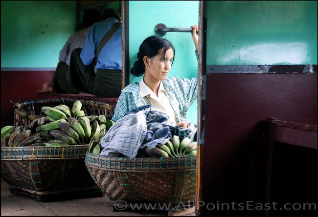 Pensive banana seller