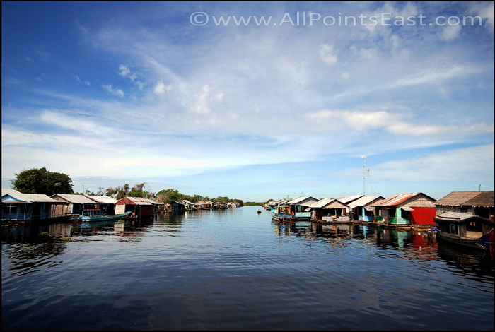 The main 'street' in another floating village