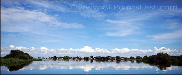 Arriving in Prek Toal floating village