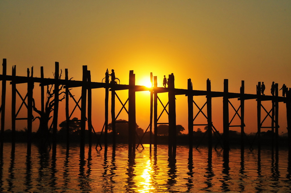 The Famous U Bein Bridge Near Mandalay All Points East