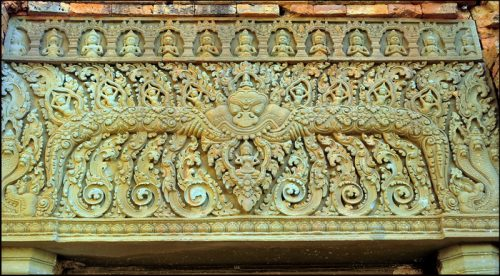 Neang Khmao Temple, Takeo Province, Cambodia