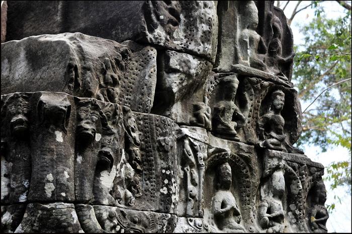 Pediment at eastern gopura