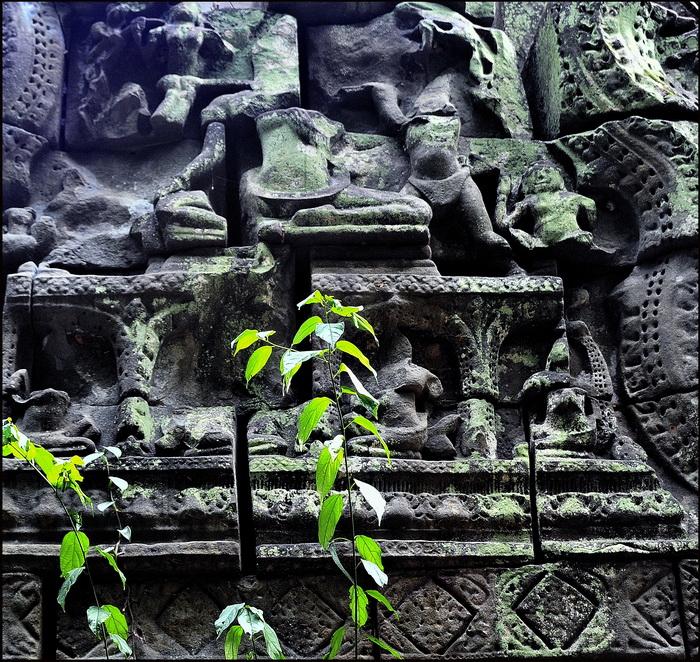 Damaged pediment from eastern gopura