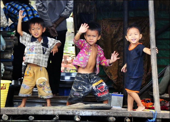 Photos from our Cambodia Overland tour. Some of our fans on the riverbank