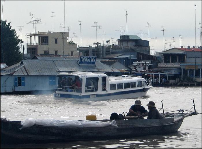 Chau Doc, early morning boat to Phnom Penh
