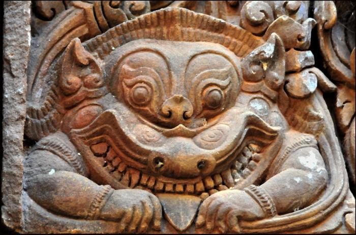 Creating a god angkor carvings