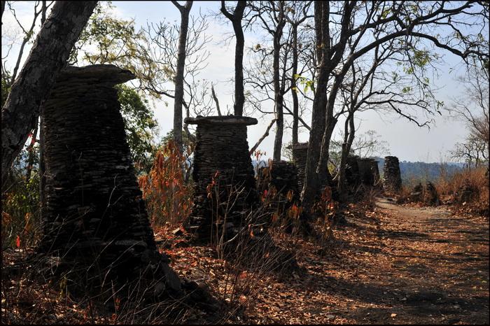 Ruins atop Phu Asa