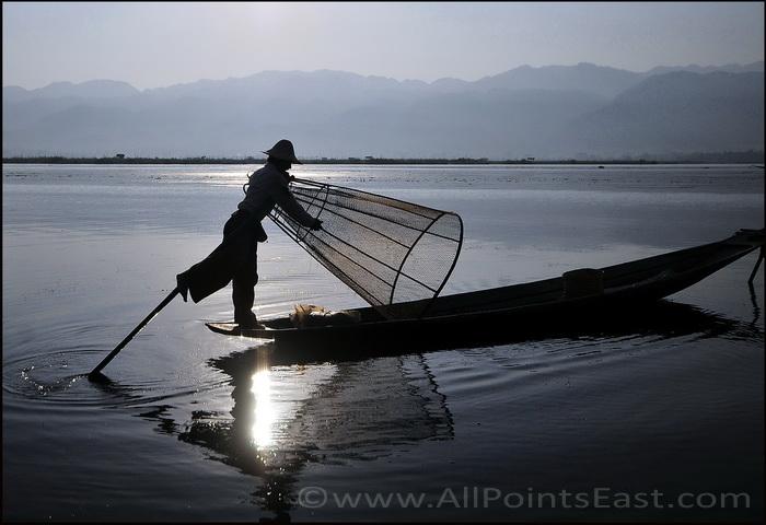 Fisherman at dawn, Inle