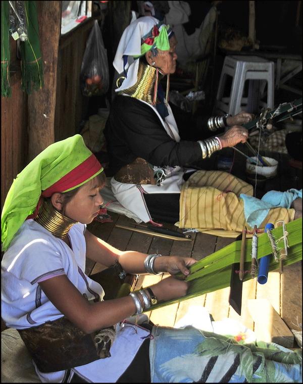 Weaving workshop near Inle