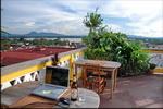 Pakse Hotel roof restaurant