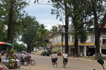 Street life in front of our hotel - Kratie