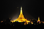View of Shwedagon from our Rangoon Hotel