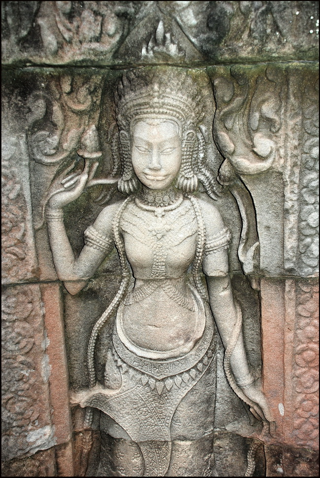 A finely carved devata