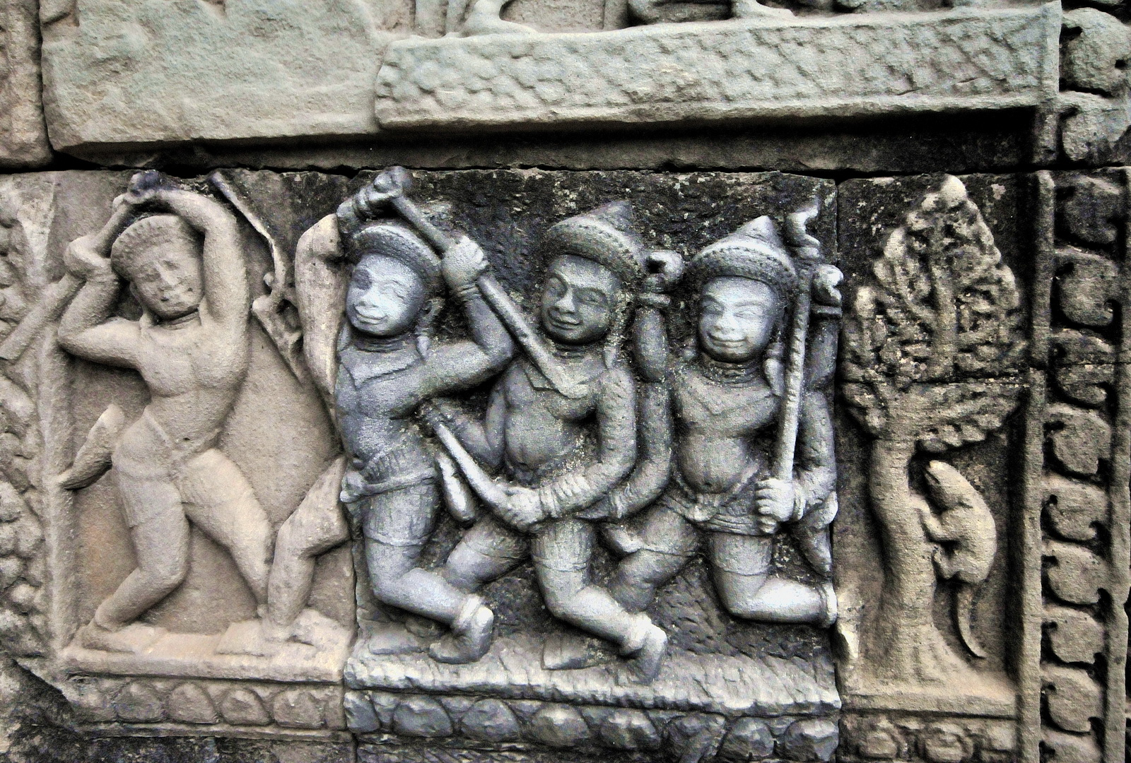 Cambodia, Baphuon relief detail