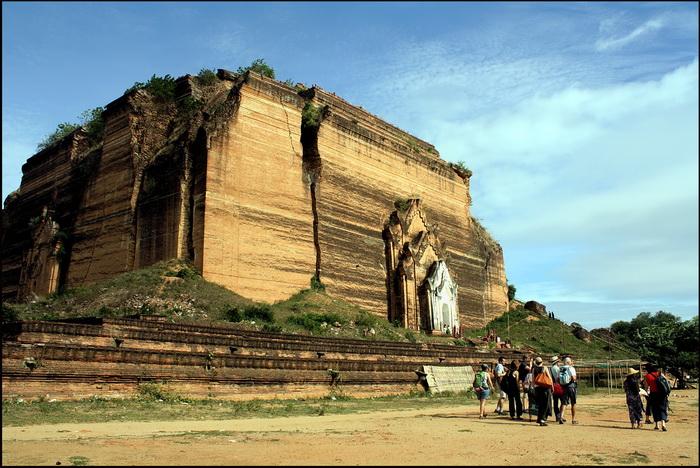 The ruined, but still huge chedi at Mingun, near Mandalay