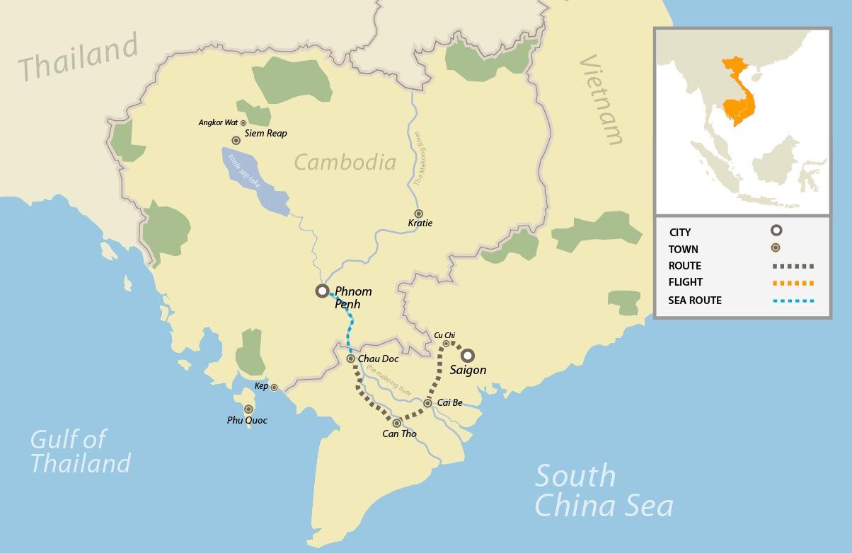 Mekong River Maps, Mekong River Cruise, Mekong Delta Tour Vietnam ...
