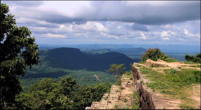 The view across northern Cambodia from Preah Vihear
