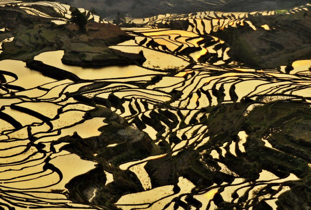 Yunnan World Heritage, Sunset at Yuanyang