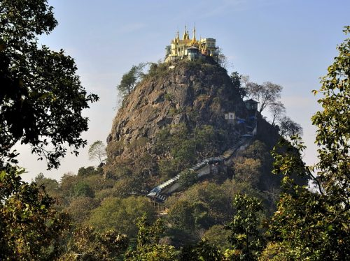 Mount Popa; monkeys and ghosts on a Burmese volcano
