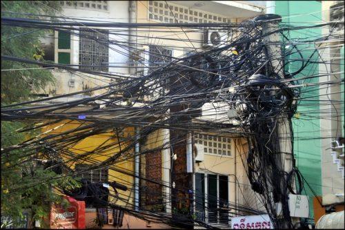 Phnom Penh, Cambodia - totally wired