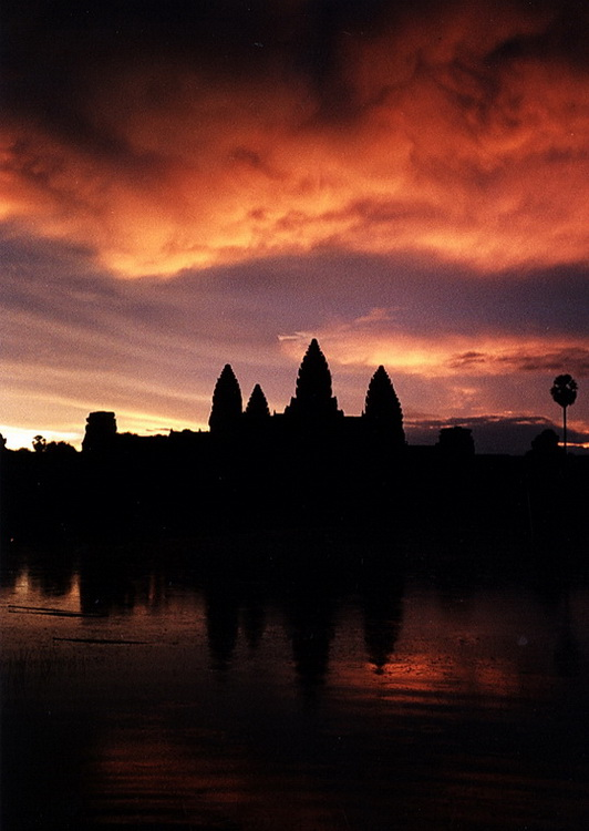 Angkor Wat about to receive an early morning shower!