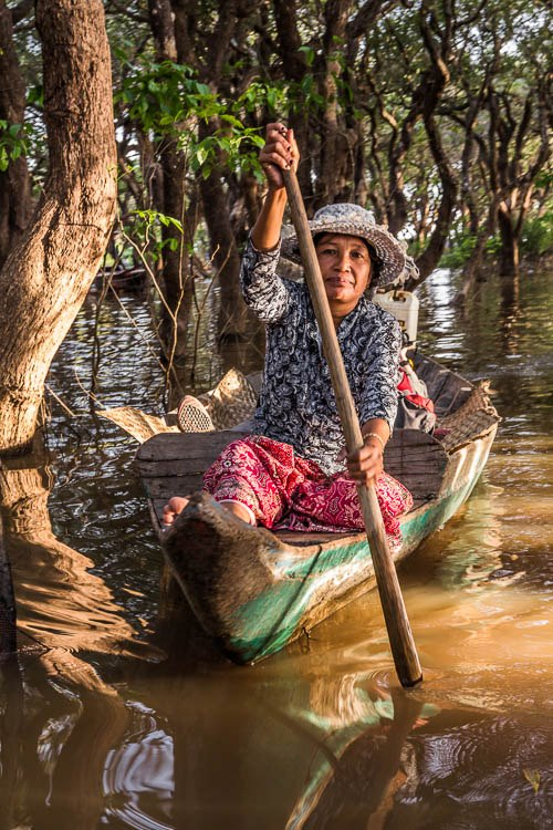 The flooded forest on the Tonle Sap Lake