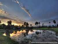 Sunset over the paddy-fields